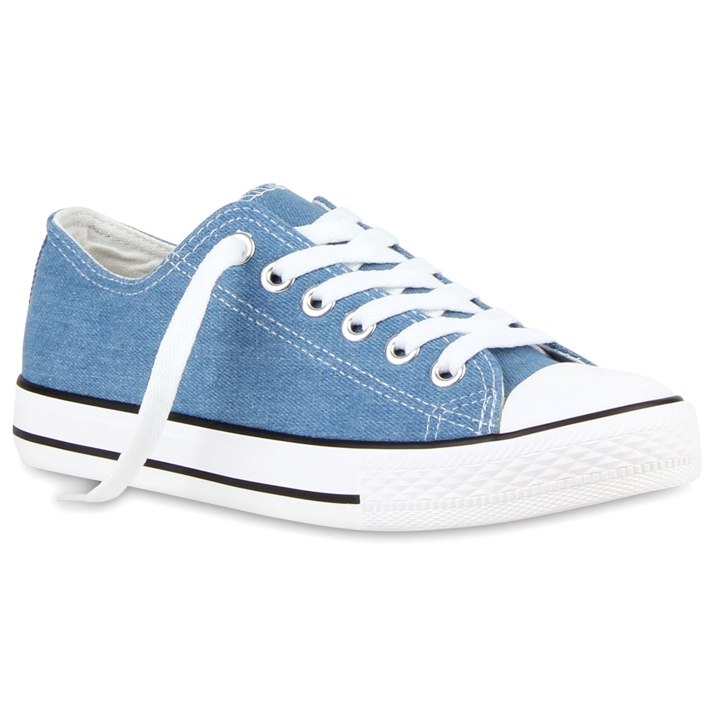 Sportliche Damen zapatos Sneakers 94237 Schnürer Flach  zapatos Damen  35-46 Trendy 3d9bc4