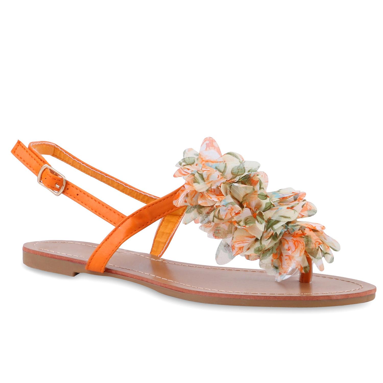 Damen-Dianetten-Blumen-Sandalen-Zehentrenner-Sommer-Schuhe-810035