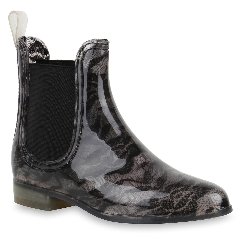 modische damen gummistiefel regenschuhe gr 36 41 chelsea boots 890371 top ebay. Black Bedroom Furniture Sets. Home Design Ideas