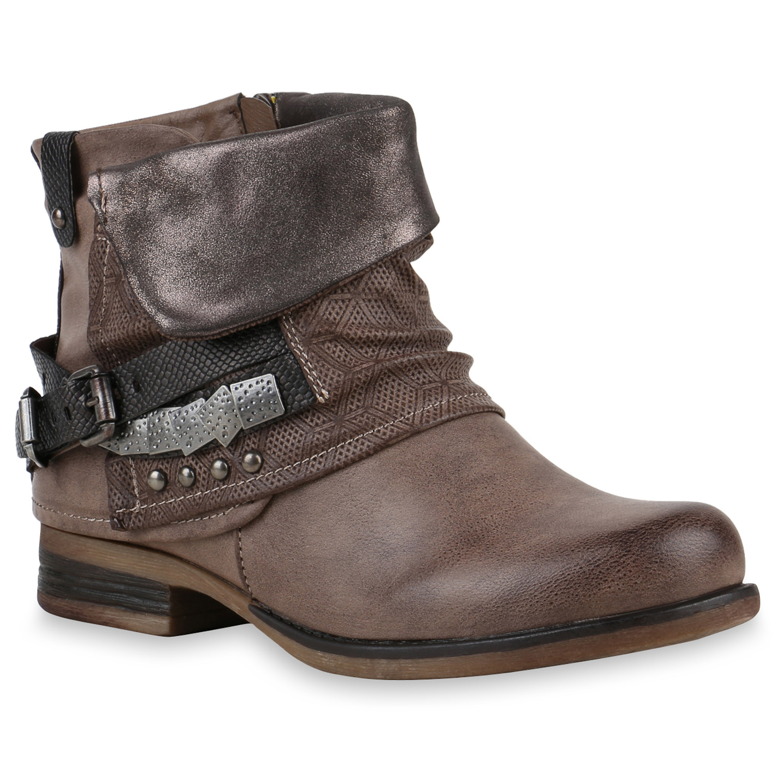 flache damen stiefeletten spitze ankle boots 74544 schuhe. Black Bedroom Furniture Sets. Home Design Ideas
