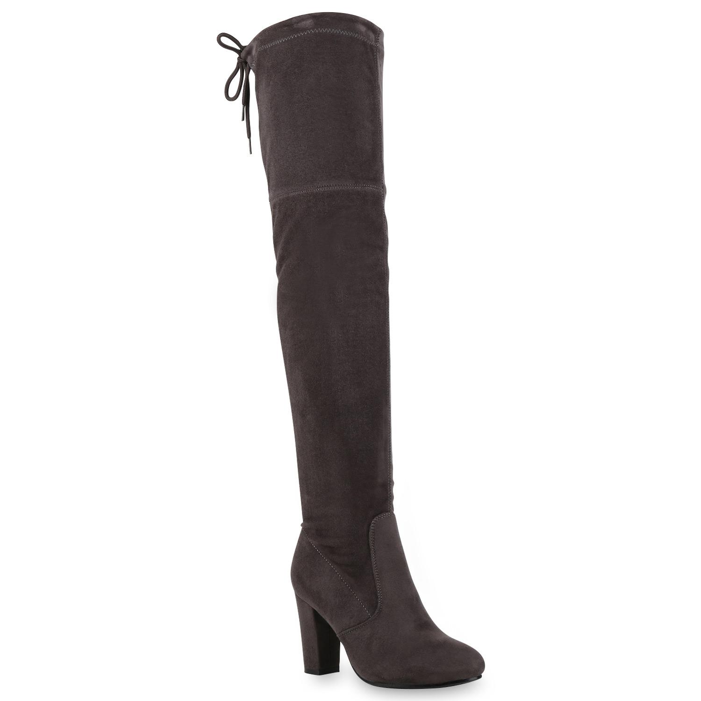 damen stiefel overknee high heels overknees 813223 schuhe. Black Bedroom Furniture Sets. Home Design Ideas
