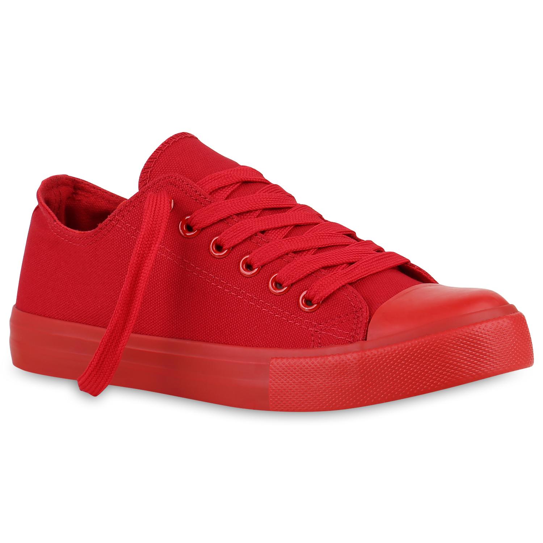 Damen Herren Sneakers Low Canvas Turnschuhe Basic Freizeit Schuhe 812172 Top