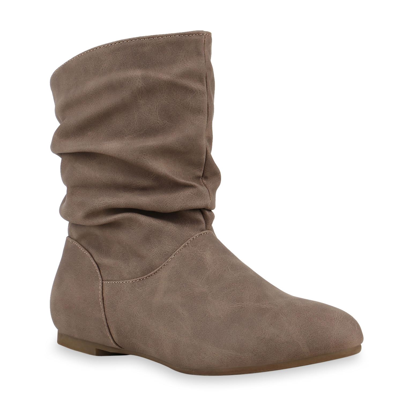 Damen-Schlupfstiefel-Lederoptik-Stiefeletten-Bequeme-812208-Schuhe