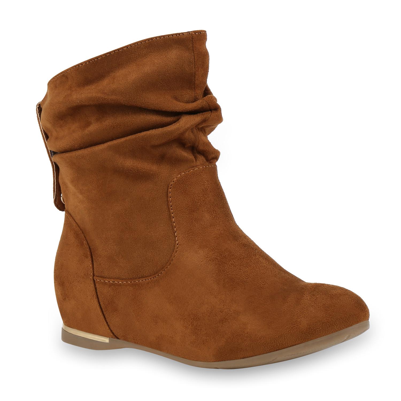 flache damen stiefeletten wildlederoptik boots schlupfstiefel 77643 ebay. Black Bedroom Furniture Sets. Home Design Ideas