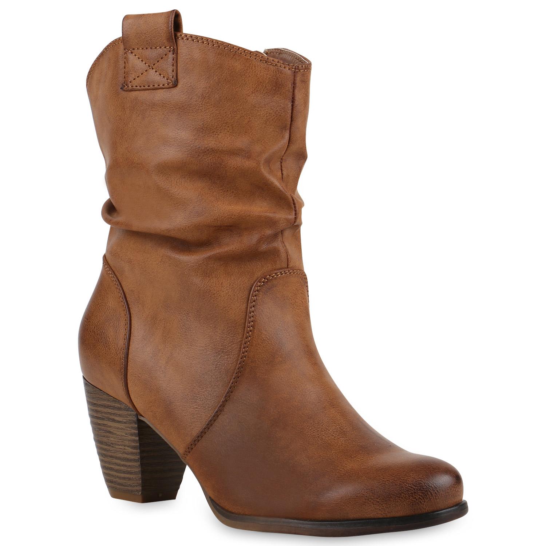 damen cowboy boots holzoptikabsatz stiefeletten western 812548 new look ebay. Black Bedroom Furniture Sets. Home Design Ideas