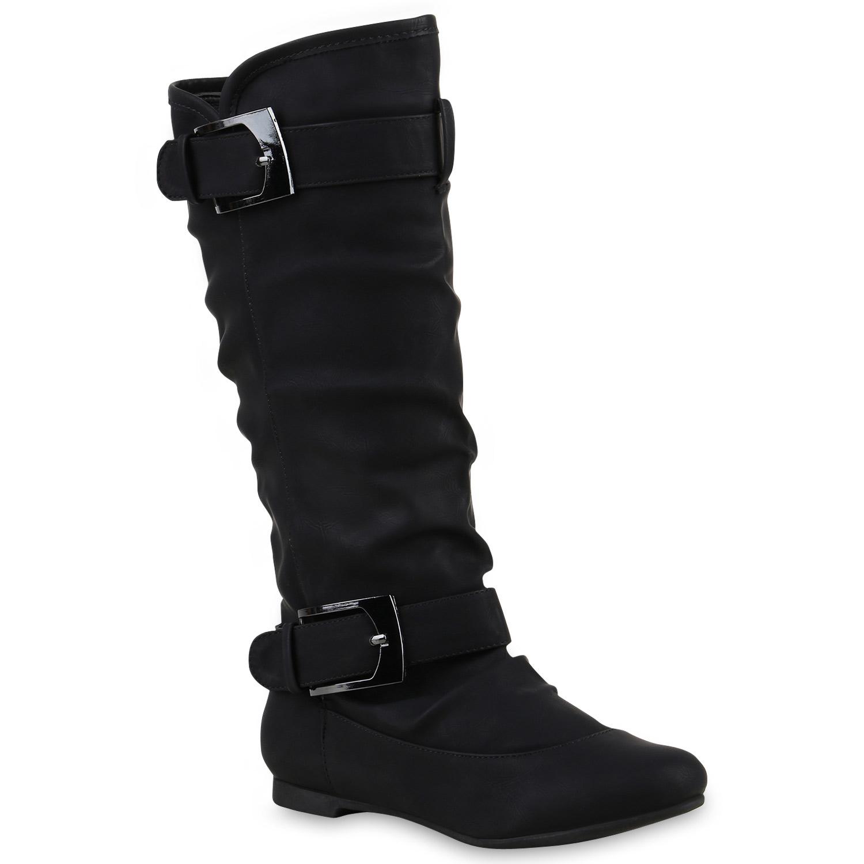Klassische botaies Damen Stiefel Schnallen Lederoptik botaies Klassische 812607 Trendy b0af69