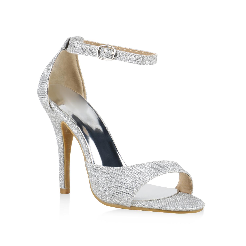 high heels damen metallic sandaletten party ballschuhe glitzer 812624 modatipp ebay. Black Bedroom Furniture Sets. Home Design Ideas