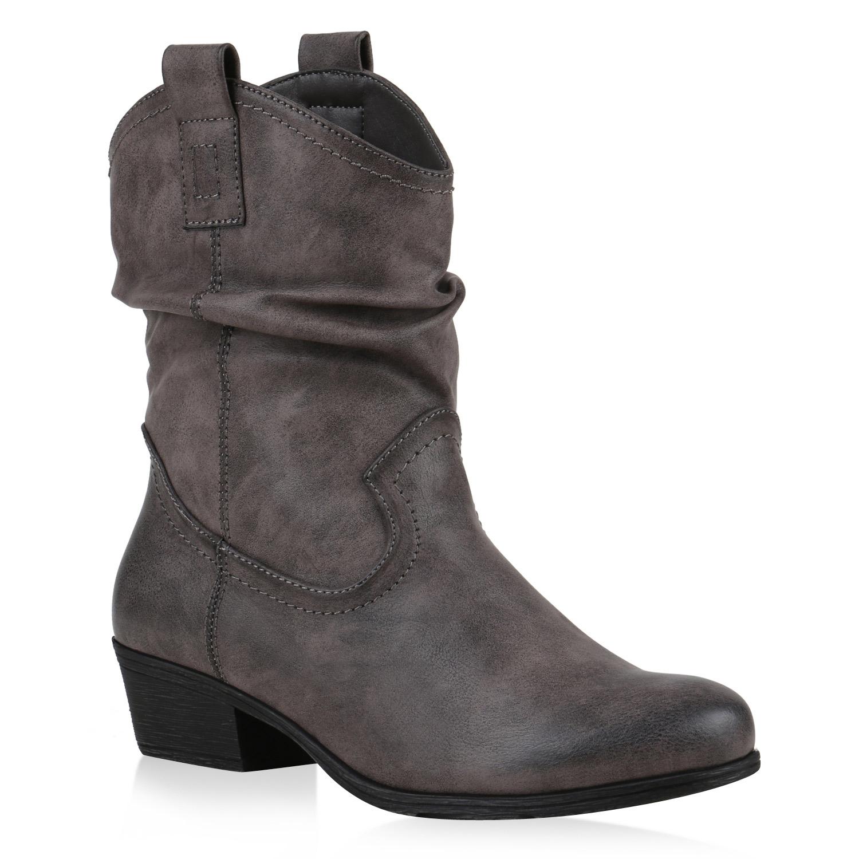 bequeme damen stiefeletten cowboy boots western schuhe 75294 mode ebay. Black Bedroom Furniture Sets. Home Design Ideas