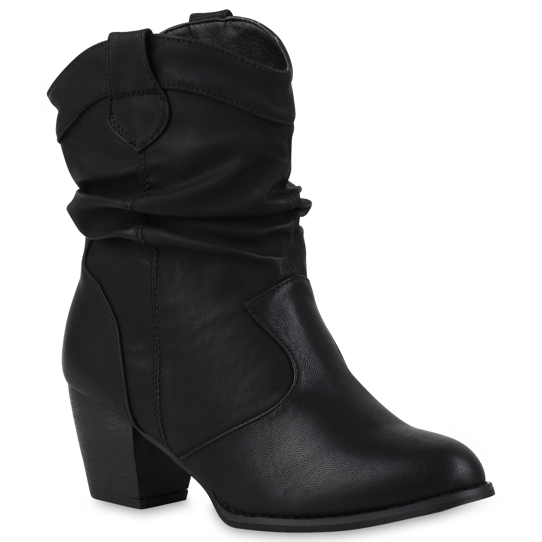 damen stiefeletten gef tterte weitschaft boots stiefel 77249 schuhe ebay. Black Bedroom Furniture Sets. Home Design Ideas