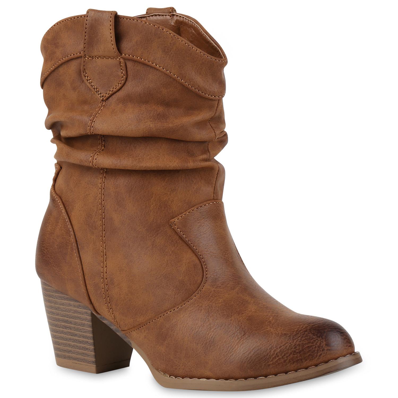 cowboy boots damen holzoptikabsatz western stiefeletten 812979 trendy ebay