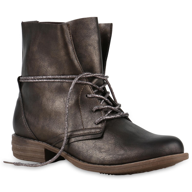 damen worker boots stiefeletten 71380 lederoptik gr 36 41 f r herbst winter ebay. Black Bedroom Furniture Sets. Home Design Ideas