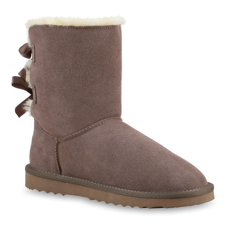 df6891dabd3a Winterboots Damen. Damen Winter Boots Lederoptik Stiefel Stiefeletten Schuhe  ...