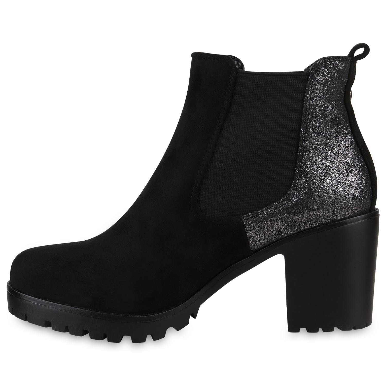 chelsea boots damen plateau stiefeletten warm gef ttert. Black Bedroom Furniture Sets. Home Design Ideas