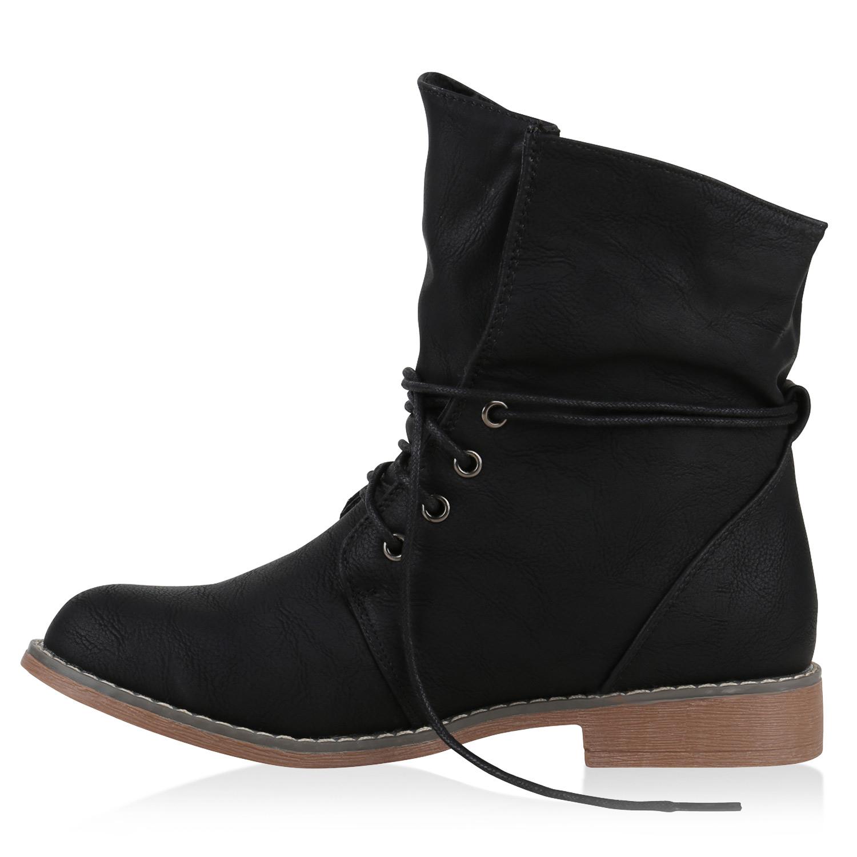 gef tterte damen stiefeletten worker boots stiefel 813228. Black Bedroom Furniture Sets. Home Design Ideas