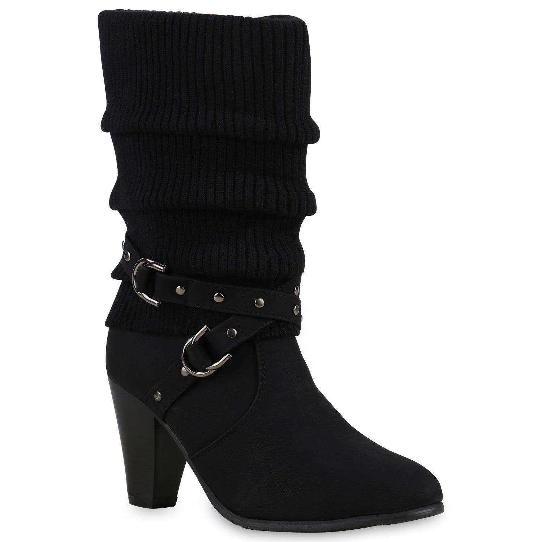 Damen Stiefeletten Stulpen Stiefel High High Stiefel Heels botas 813358 Top ebb51f