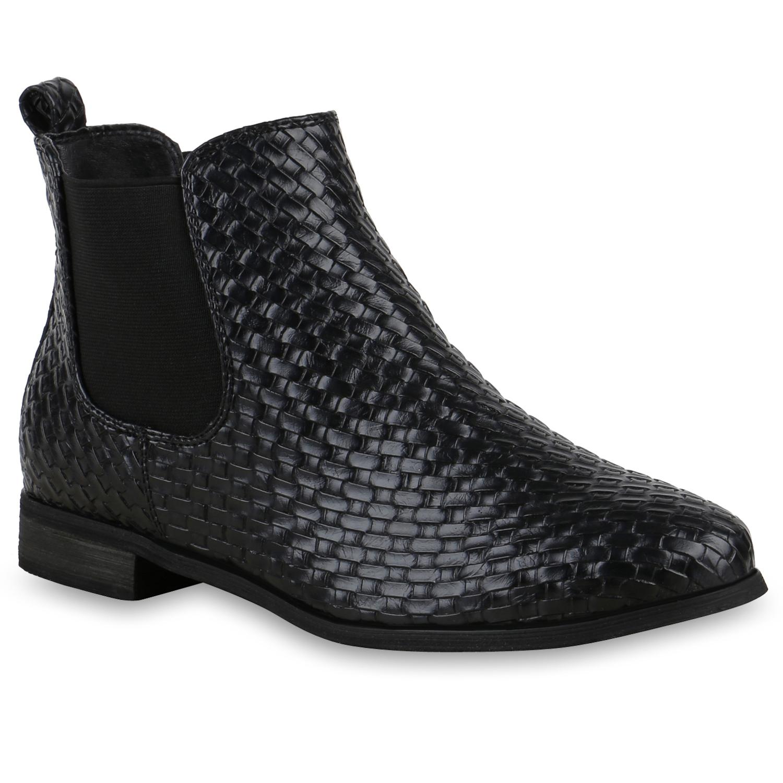 damen chelsea boots stiefeletten kroko optik schuhe 813467. Black Bedroom Furniture Sets. Home Design Ideas
