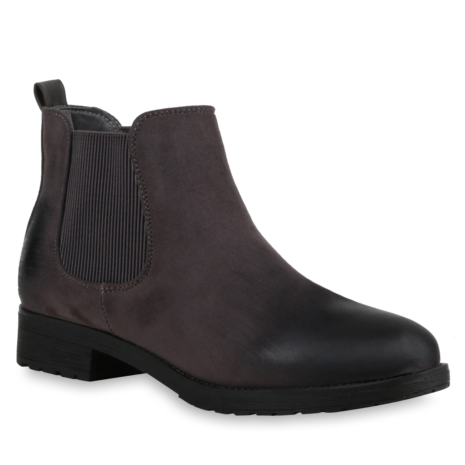 damen lack chelsea boots stiefeletten blockabsatz schuhe 78481 modatipp ebay. Black Bedroom Furniture Sets. Home Design Ideas