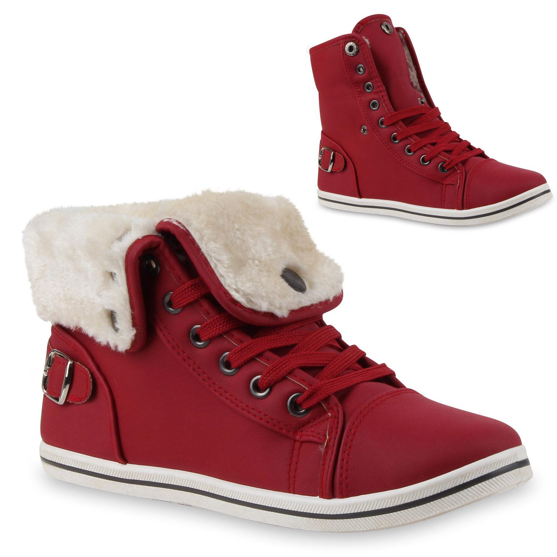 Warme Damen Sneakers Winter Sportschuhe Schn rer Gef ttert 98722 36 41 Schuhe
