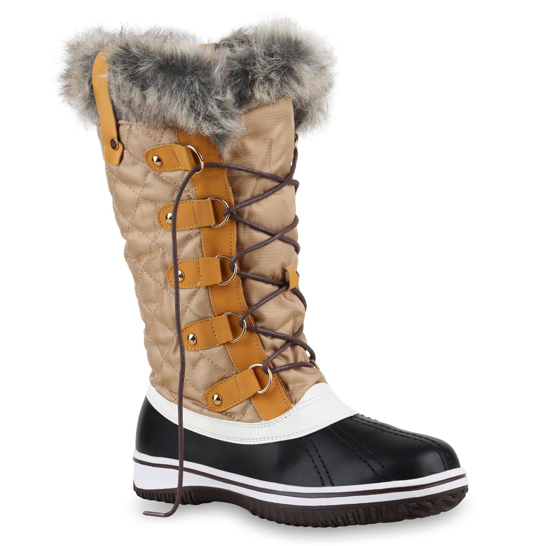 warm gef tterte damen stiefel winterstiefel snow boots waterproof 814080 schuhe ebay. Black Bedroom Furniture Sets. Home Design Ideas
