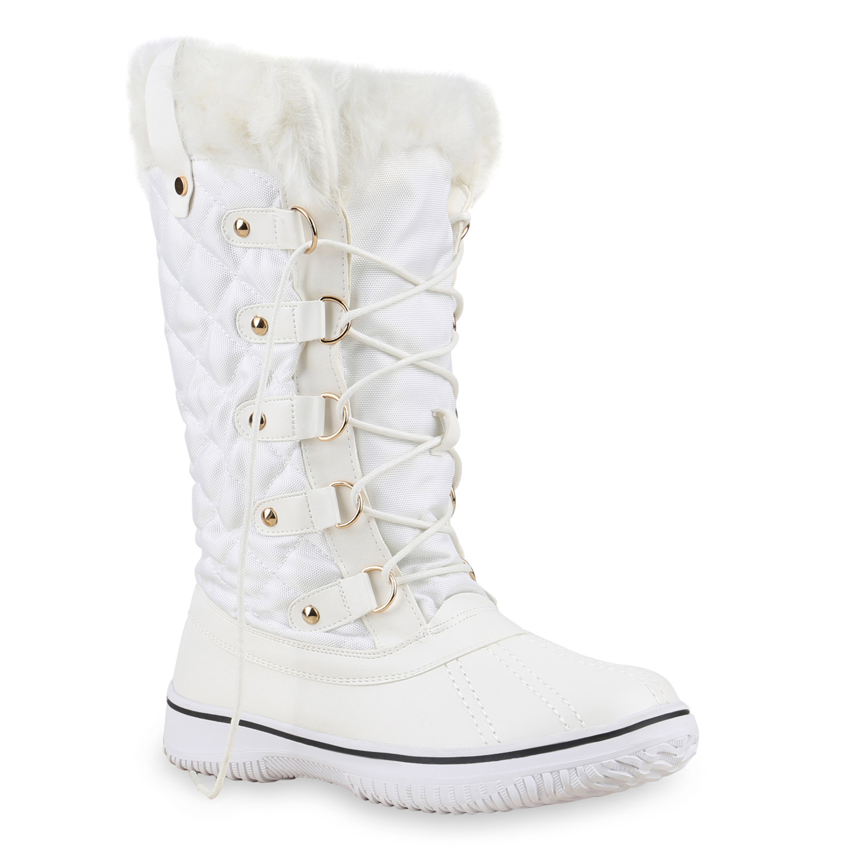 warm gef tterte damen stiefel winterstiefel snow boots schuhe waterproof 814081 ebay. Black Bedroom Furniture Sets. Home Design Ideas