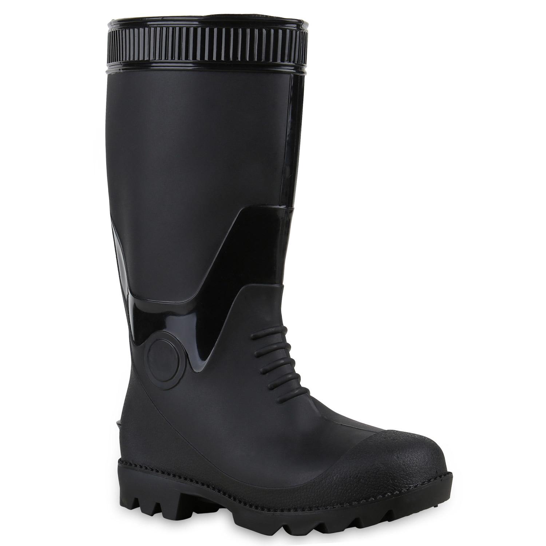herren gummistiefel outdoor boots festival lack regen schuhe 814140 top ebay. Black Bedroom Furniture Sets. Home Design Ideas