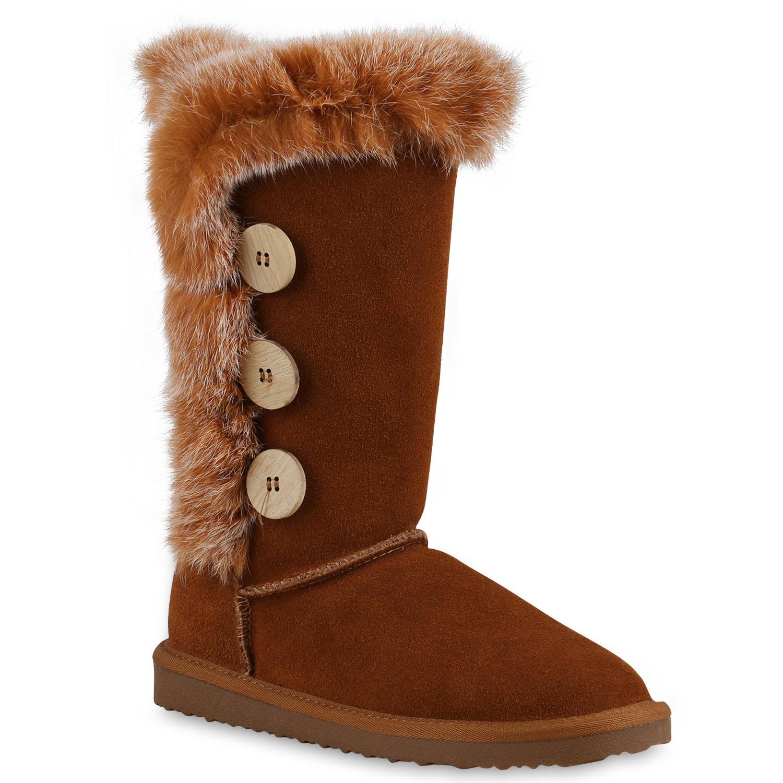 Top Schlupfstiefel Leder Warm Fell Besatz Damen Boots Gefütterte 814141  Stiefel qwWqZzTIH 8a39be9eae