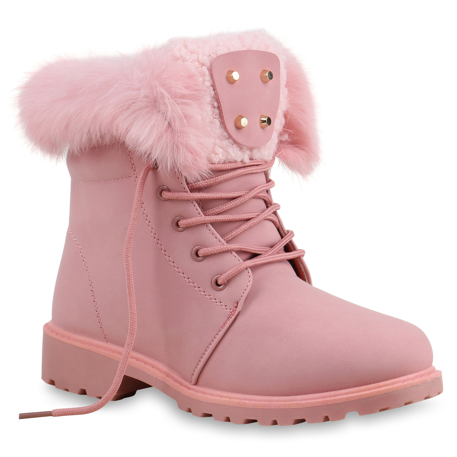warm gef tterte damen stiefeletten fell outdoor boots winterschuhe 813823 schuhe ebay. Black Bedroom Furniture Sets. Home Design Ideas