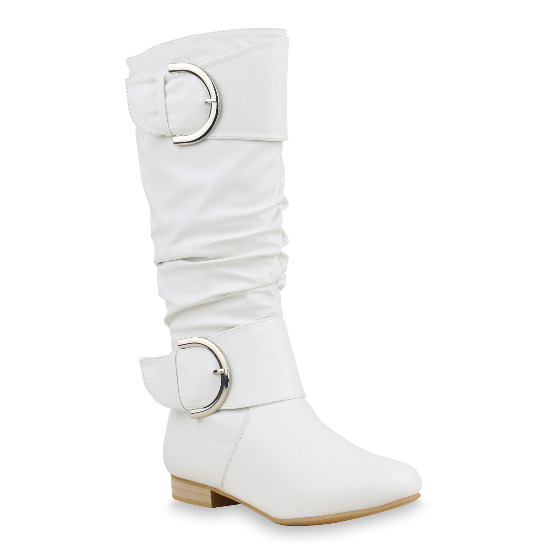 flache damen stiefel langschaft boots lederoptik 814299. Black Bedroom Furniture Sets. Home Design Ideas