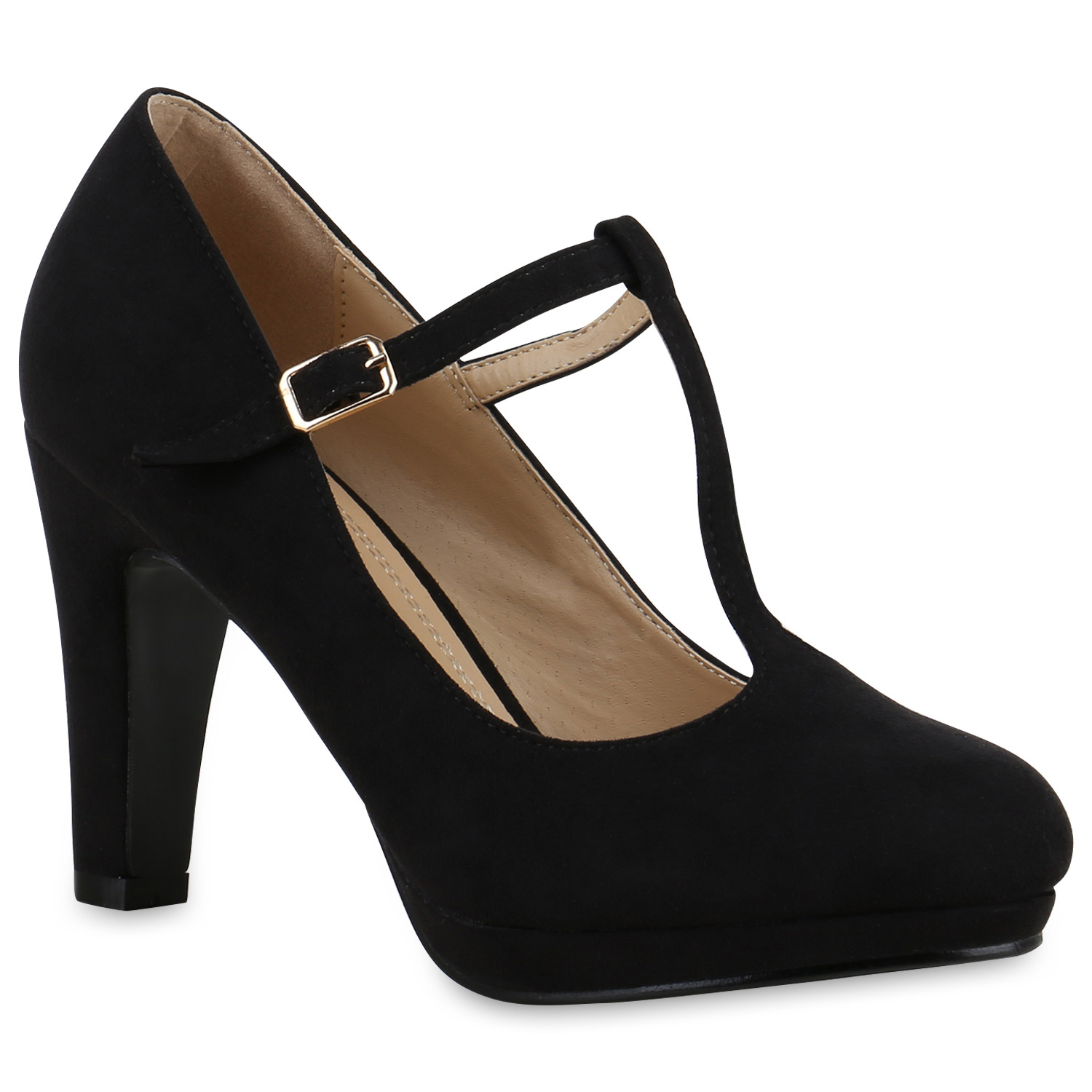 damen pumps mary janes blockabsatz high heels t strap 814325 schuhe ebay. Black Bedroom Furniture Sets. Home Design Ideas