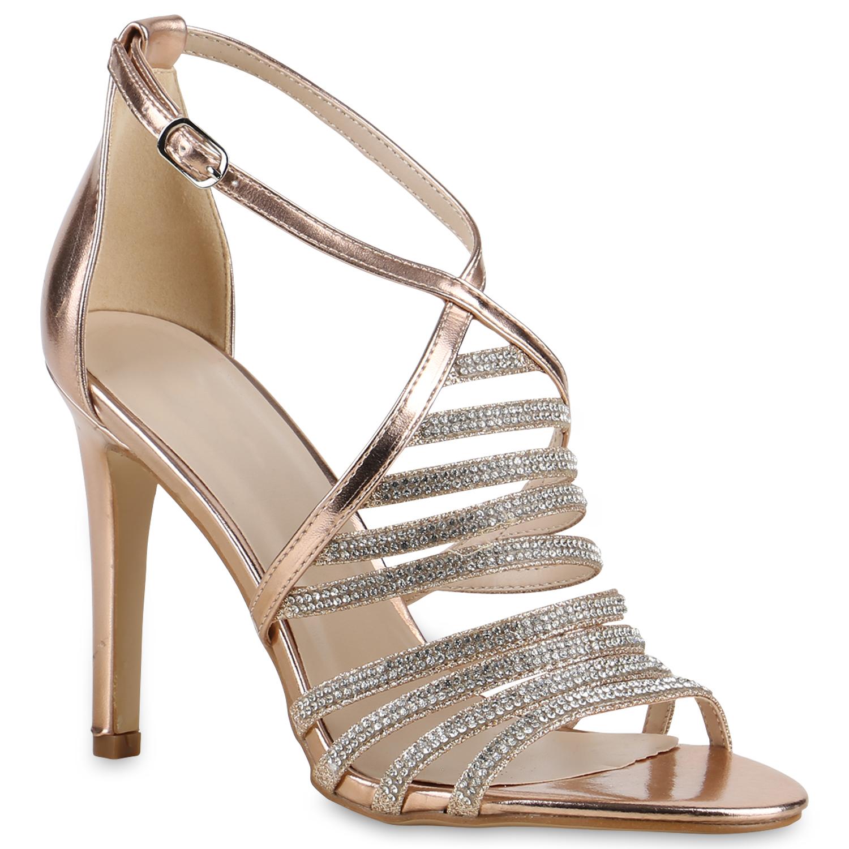 high heels damen strass sandaletten glitzer party schuhe. Black Bedroom Furniture Sets. Home Design Ideas