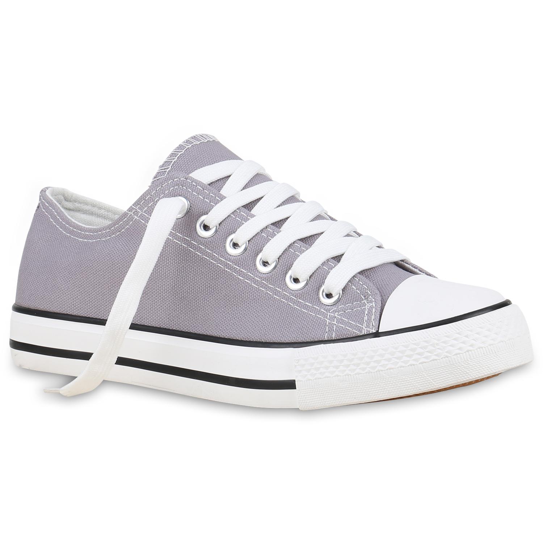 Damen Sneakers Kult Sportschuhe Stoffschuhe Freizeit Look 814414 Top