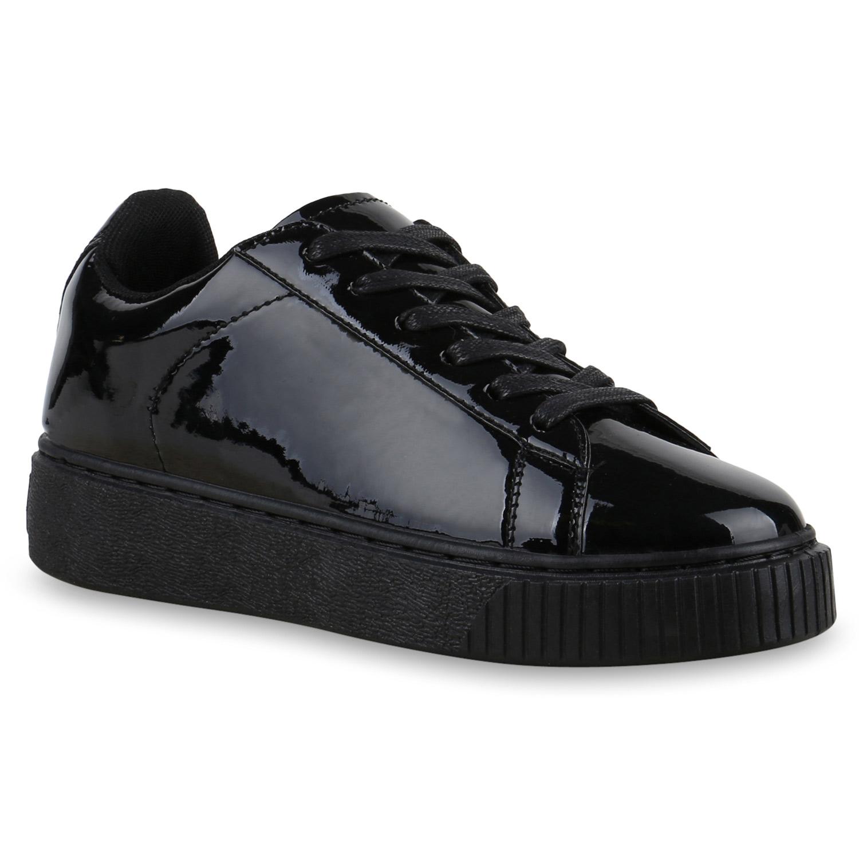 e0de16d208a856 Plateau Sneaker Damen Lack Turnschuhe Metallic Sneakers 815022 Schuhe