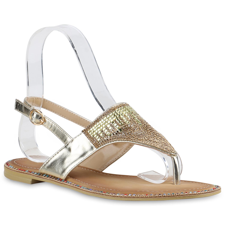 damen sandalen zehentrenner metallic strass sommerschuhe flats 815536 new look ebay. Black Bedroom Furniture Sets. Home Design Ideas