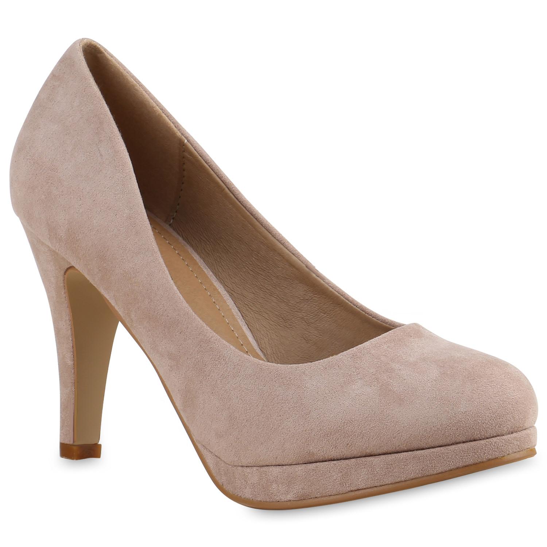 Plateaupumps Damen Stilettos Abend Schuhe Pumps Party 815581 New Look