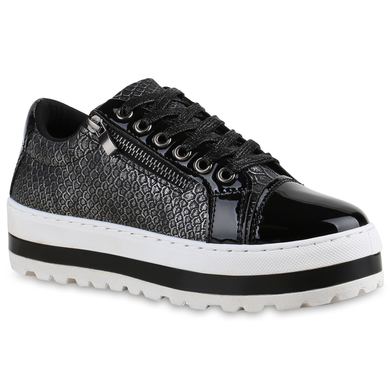 plateau sneaker damen lack sneakers zipper halbschuhe profil 815603 top ebay. Black Bedroom Furniture Sets. Home Design Ideas