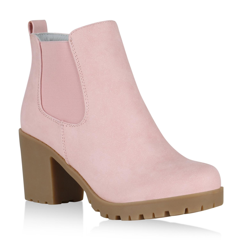 gef tterte damen stiefeletten chelsea boots profil sohle. Black Bedroom Furniture Sets. Home Design Ideas