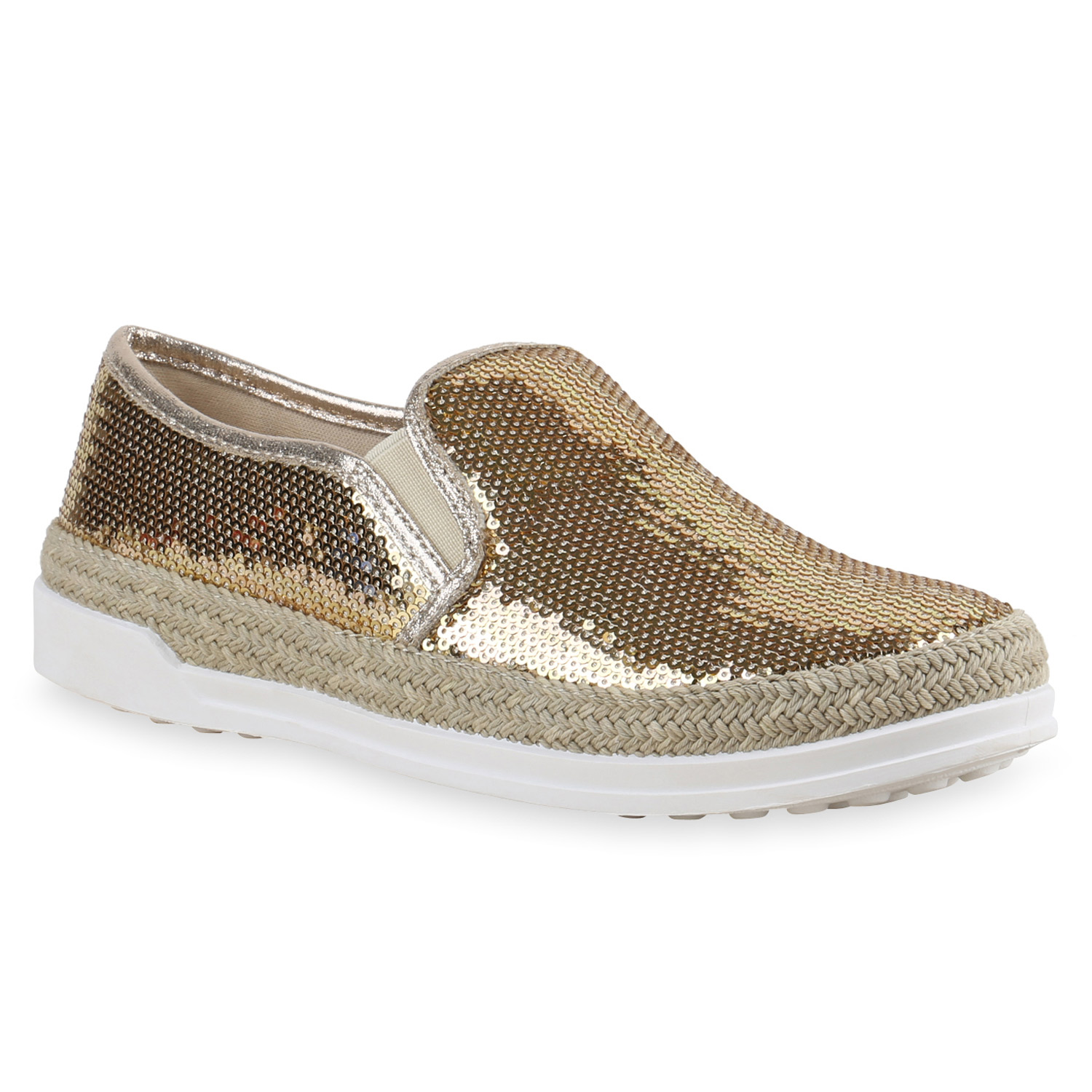FASHION DAMEN SCHUHE 137302 SNEAKERS GOLD 39 NEUWARE