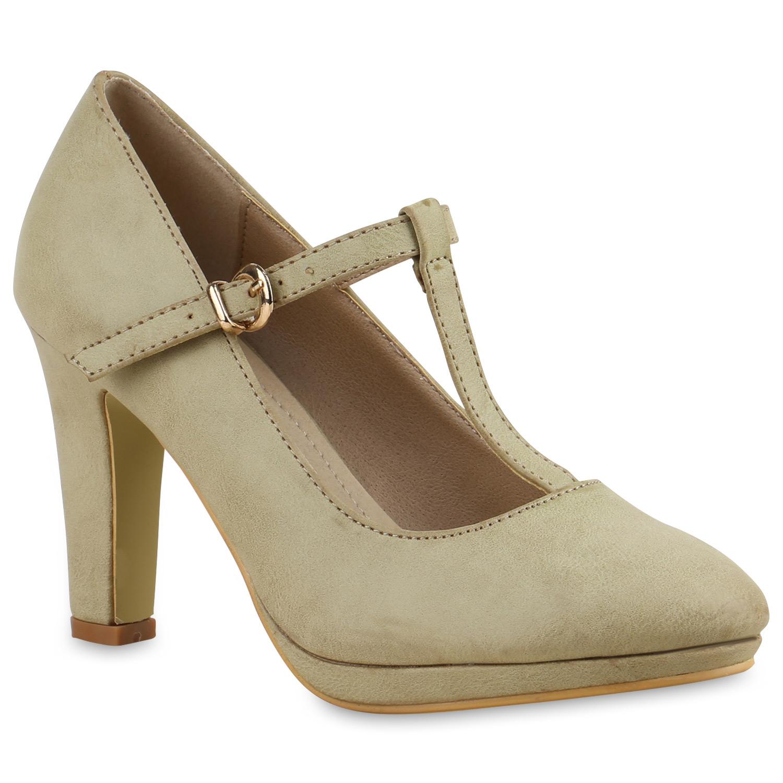 damen pumps mary janes blockabsatz high heels t strap 814325 schuhe ebay. Black Bedroom Furniture Sets. Home Design Ideas