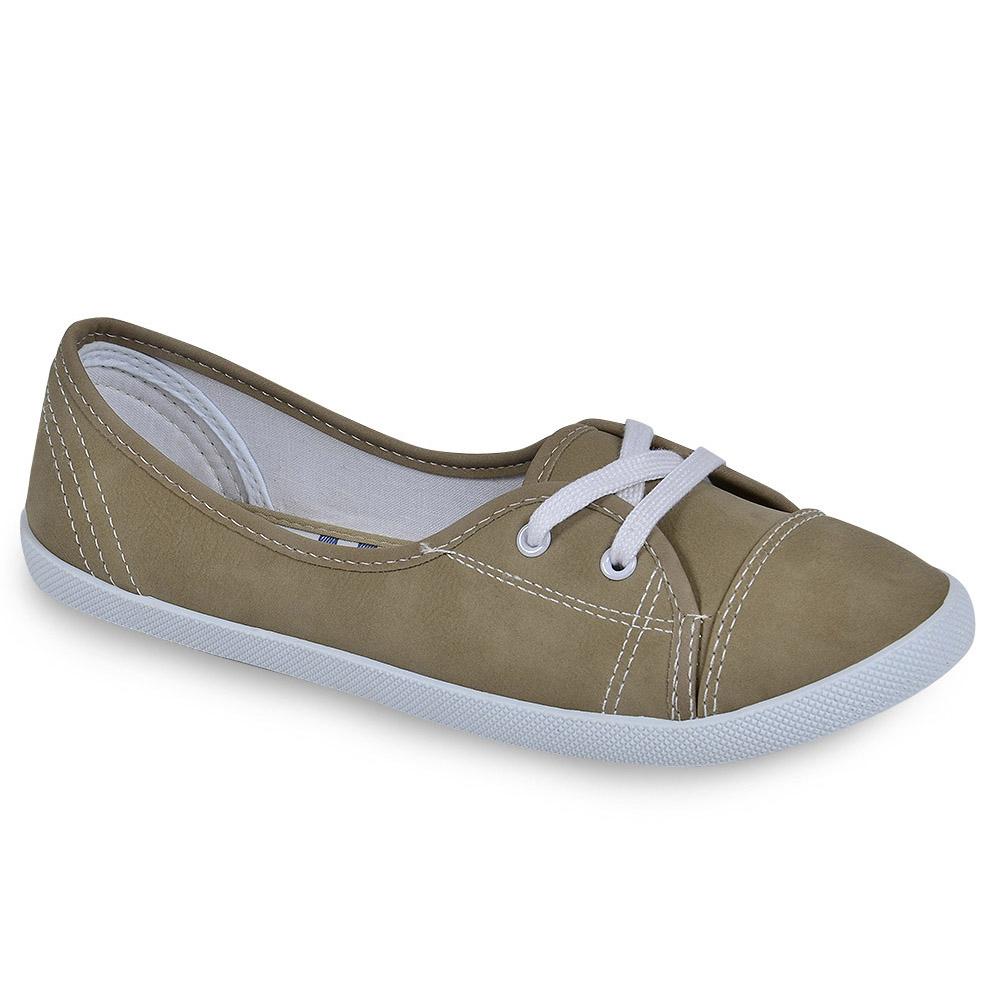 Sportliche-Damen-Ballerinas-Stoffschuhe-Slipper-75305-New-Look