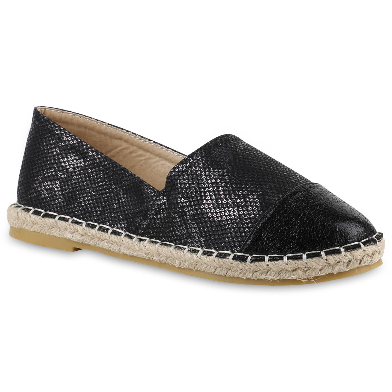schwarze damen slipper espadrilles bast freizeit schuhe flats 816585 ebay. Black Bedroom Furniture Sets. Home Design Ideas