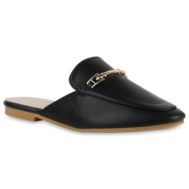 Elegante Damen Slipper Offene Pantoletten Flats Schuhe 817141 Top   eBay ab2801dac3