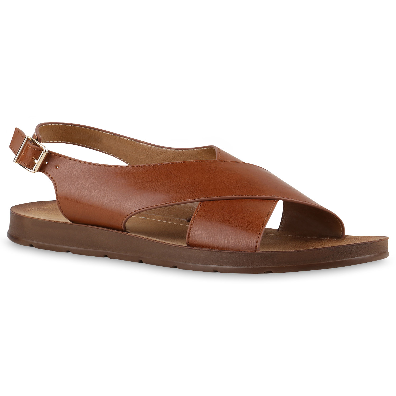 bequeme damen sandalen komfort schuhe profilsohle lederoptik 817337 mode ebay. Black Bedroom Furniture Sets. Home Design Ideas