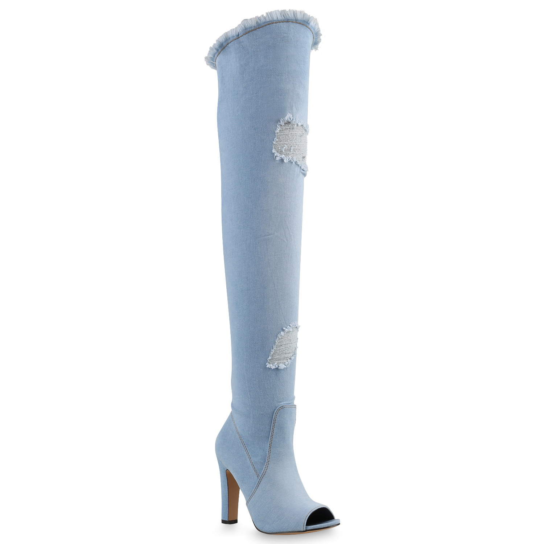 Damen Offen Langschaftstiefel Overknees Fransen Vorne Offen Damen  Zapatos  817569 New Look 9dccb9