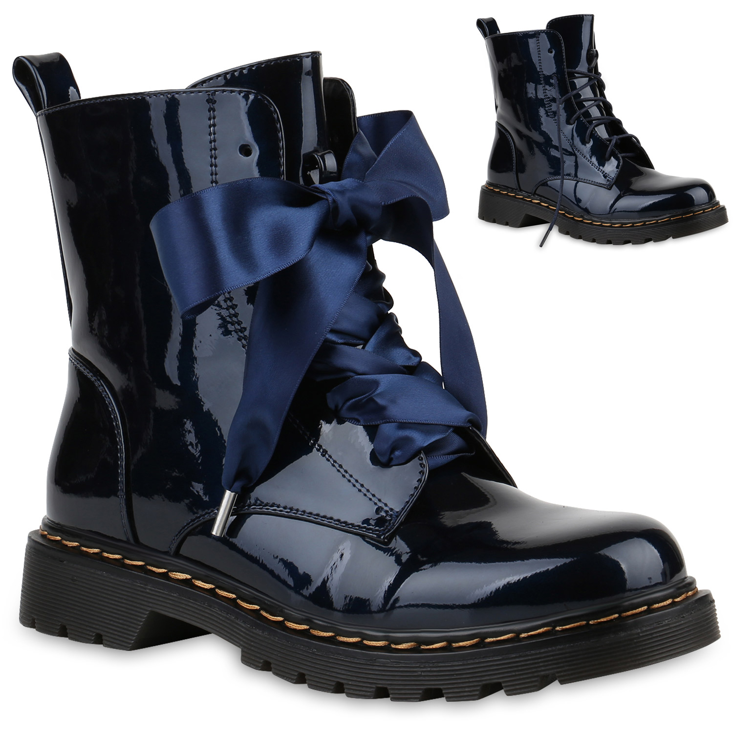 damen lack boots stiefeletten fransen schn rstiefel 77607 schuhe ebay. Black Bedroom Furniture Sets. Home Design Ideas