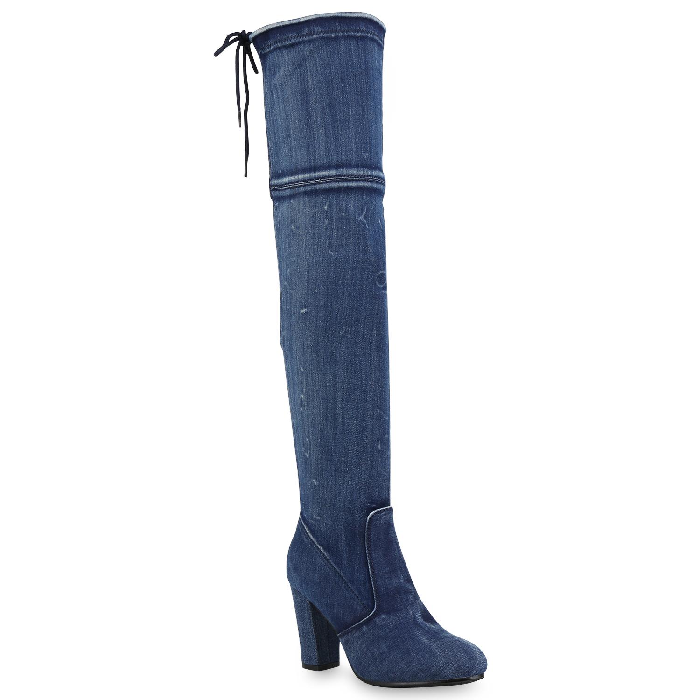 damen stiefel overknee high heels overknees schuhe 813223. Black Bedroom Furniture Sets. Home Design Ideas