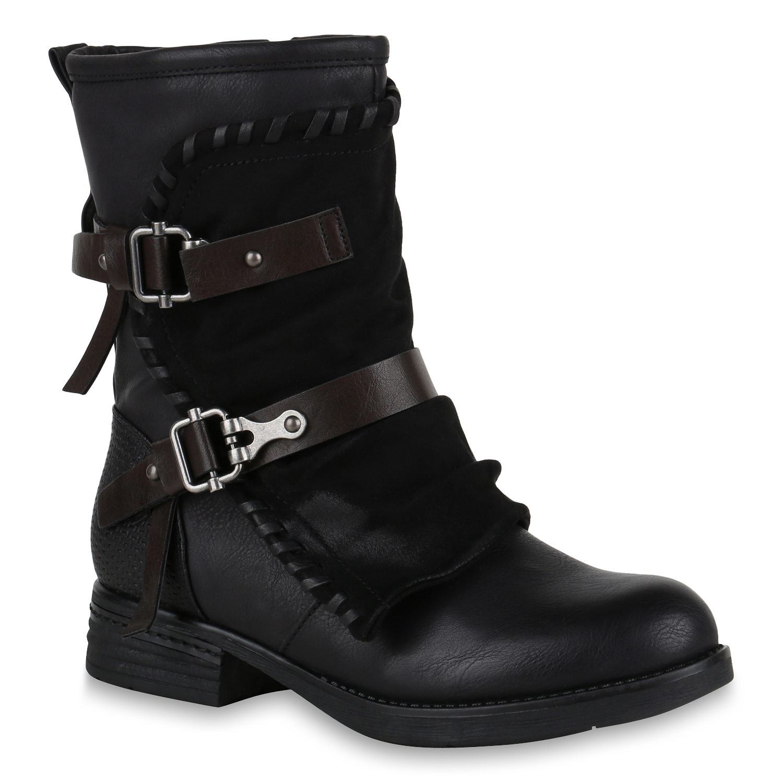 Stiefeletten Schuhe Damen Used Boots 0477 Camel 40