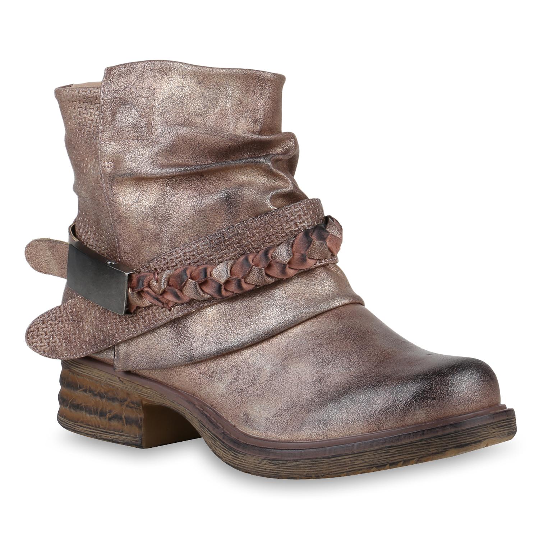 damen biker boots warm gef tterte stiefel nieten. Black Bedroom Furniture Sets. Home Design Ideas