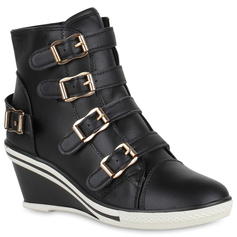 damen sneakers leder optik sneaker wedges keilabsatz profil 819509 hot ebay. Black Bedroom Furniture Sets. Home Design Ideas