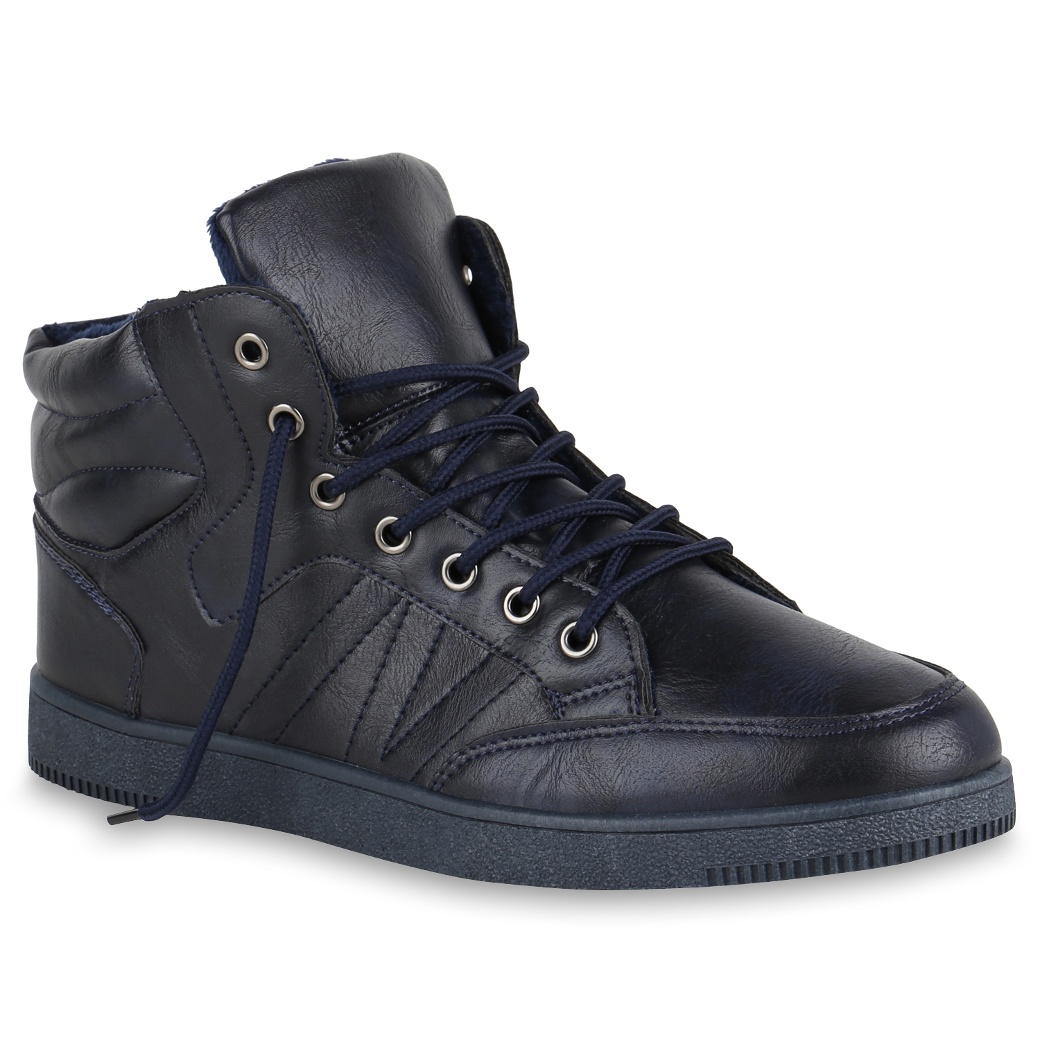 herren sneakers warm gef tterte winter sneaker high profil schuhe 819516 mode ebay. Black Bedroom Furniture Sets. Home Design Ideas
