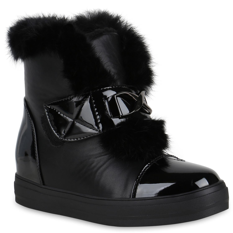 damen sneaker wedges warm gef tterte winter sneakers lack. Black Bedroom Furniture Sets. Home Design Ideas